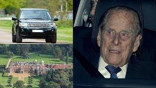 """PRINCE Philip """"conscious but shocked & shaken"""" after his Land Rover flipped near The Queen's estate"""