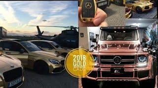 24K Gold Cars: Porsche, Mercedes, Brabus, Bentley | Luxury Cars | 2018