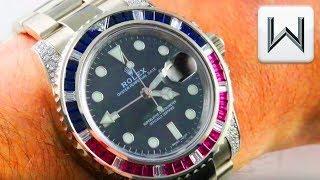 "Rolex GMT Master II ""Pepsi Patriot"" 116759SARU GMT Master 2 Pepsi Luxury Watch Review"