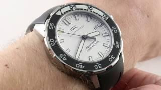 IWC Aquatimer 2000 IW3568-06 Luxury Watch Review