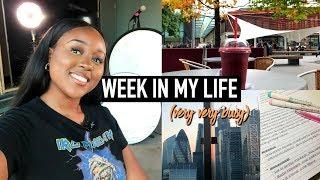 A WEEK IN THE LIFE OF A UNIVERSITY STUDENT & YOUTUBER (very busy lol)