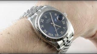 Rolex Datejust (BLUE DIAL) Steel & White Gold 116234 Luxury Watch Review