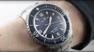 Blancpain Fifty Fathoms (X71 BRACELET) 5015D-1140-71B Luxury Watch Review