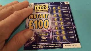 Scratchcard..Monday....Winning 777..Instant £100..Luxury Lines..etc