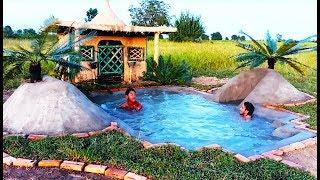 Building Mini Luxury   Mud House & Swimming Pool in front of (Full)