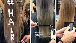 AMAZING LONG HAIR CUTTING!!! + HAIR COLORING