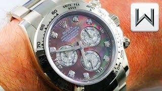 Rolex Daytona Meteorite, Diamonds, Mother of Pearl, White Gold (116509) Luxury Watch Review
