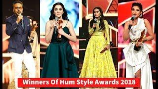 Winner's Of Hum Style Awards 2018
