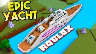LUXURY YACHT (5,000+ Blocks) | Build A Boat For Treasure ROBLOX