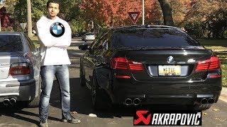 BMW Driver Drives A BMW F10 M5
