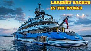 The world's longest motor luxury yachts