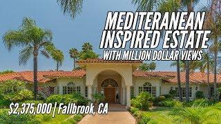 $2,375,000 | MEDITERANEAN INSPIRED ESTATE with Million Dollar views! (Luxury Living)