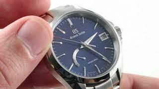 Grand Seiko Spring Drive (BLUE DIAL) SBGA275 Luxury Watch Review