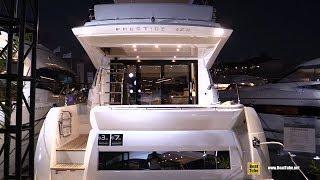 2019 Prestige 460 Luxury Yacht - Deck and Interior Walkaround - 2018 Fort Lauderdale Boat Show