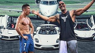 The Rich Life Of CRISTIANO RONALDO vs THE ROCK 2018