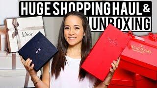 HUGE LUXURY SHOPPING HAUL AND UNBOXING | Christian Dior, Valentino, Tory Burch, Zara + More!