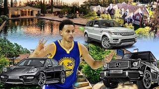 STEPH CURRY NBA ULTIMATE SUCCESS & LIFESTYLE NET WORTH MANSION HOUSES FAMILY LUXURY CARS FASHION
