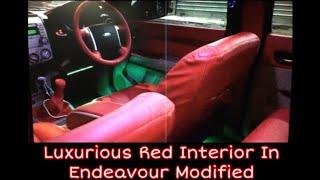 ford endeavour luxury red interior and premium bucket fit seat covers