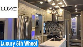 Luxe Elite 39FB luxury fifth wheel - 2020 interior walk through