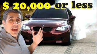 5 Luxury Cars With 500 HP Under 20k!