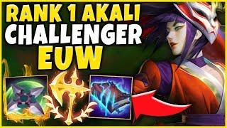 """CHALLENGER RANK 1 EUW """"LIDER"""" NEW AKALI BUILD (WHAT EVEN IS THIS?!?) - League of Legends"""