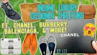 INSANE LUXURY DESIGNER THRIFTING FT.  SO MUCH CHANEL!!! - LUXURY THRIFTING & HAUL | S2.E11