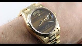 Rolex Day-Date (TIGER'S EYE DIAL/Vintage) 18038 Luxury Watch Review