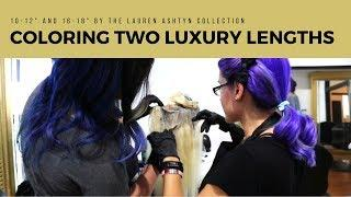 """Coloring 2 Luxury Lengths   10-12"""" & 16-18""""   The Lauren Ashtyn Collection"""
