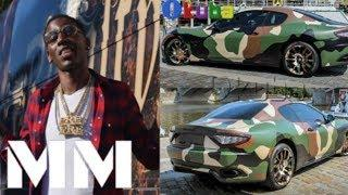 Rapper Young Dolph Pulls Up In 10 Ferraris, Mercedes Luxury Cars In Same Colour