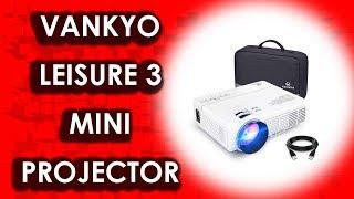Best VANKYO LEISURE 3 Mini Projector 2019 | 2400 Lux Portable Movie Projector LED Lamp Life