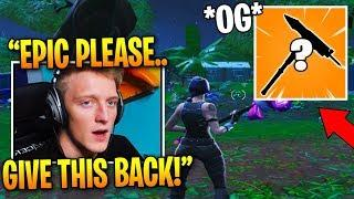 Tfue *REGRETS* Losing This *OG* Pickaxe and Wants EPIC to Give it Back!