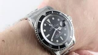 "Rolex Submariner ""RED SUBMARINER"" Mark V (VINTAGE) 1680 Luxury Watch Reviews"