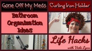 DIY Curling Iron Holder ~ Bathroom  Organization ~ Life Hacks with Vicki Lynn ~ DiamondTube #170