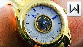 Omega De Ville Tourbillon Full Bracelet / Omega Central Tourbillon 5113.30.00 Luxury Watch Review