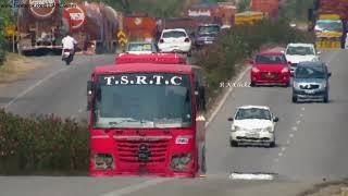 ఎండమావి-Highway Mirage| VEMULAWADA--HYDERABAD(JBS) TSRTC SUPER LUXURY BUS.