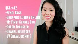 Q&A #42 SHOPPING LUXURY ONLINE, FENDI BAGS, CHANEL RELEASES, FIRST CHANEL BAG, ETC. | FashionablyAMY