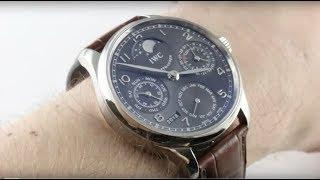IWC Portuguese Perpetual Calendar IW5023-07 Luxury Watch Review