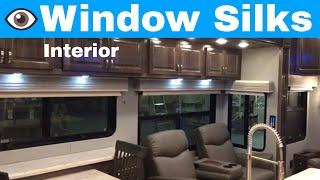 Luxe Luxury fifth wheel - Window Silks Interior - Advantages