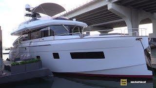 2019 Sirena 58 Luxury Yacht - Interior Deck Bridge Walkthrough - 2019 Miami Yacht Show