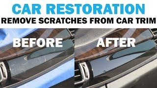 Removing The Scratches from a Luxury Car's Interior Trim | Cars 101