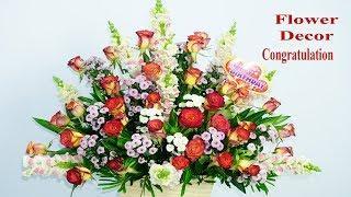 How to make Decoration Luxury Snapdragon, Rose Birth Congratulation flower ?