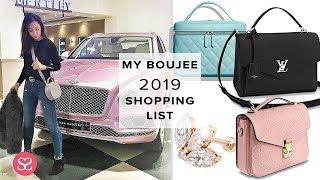 What I'm Buying This 2019 ???? | The Biggest, Boujiest Luxe Shopping List!