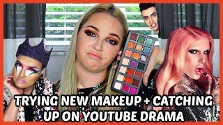 RICHLUX JEFFREE STAR COLLAB DRAMA + TRYING NEW MAKEUP.