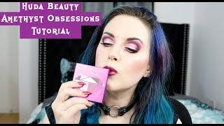 Huda Beauty Amethyst Obsessions Palette Tutorial on Hooded Eyes | Cruelty-free Makeup Tutorial