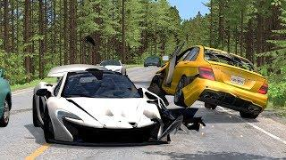 Car Overtaking Crashes Compilation #4 - BeamNG.Drive