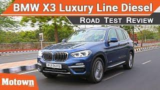 All-new BMW X3 Luxury Line diesel | Road Test Review | Motown India