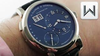 A. Lange & Sohne Lange 1 Daymatic BLUE Dial 320.028 Luxury Watch Review
