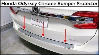 2019 Honda Odyssey Chrome Bumper Protector Install