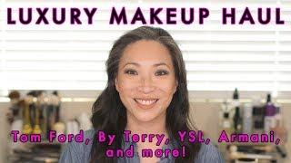 LUXURY MAKEUP HAUL - Tom Ford, By Terry, YSL, Armani