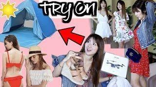 TRY-ON SPRING / VACATION HAUL | WHAT I AM TAKING TO HAWAII | CHARIS